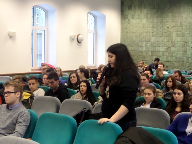 Debate with Young Leaders in Banská Bystrica